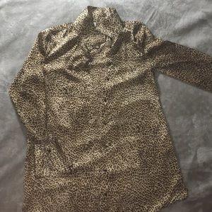 Zara Animal Print Shirt Dress